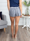 Trips With You Stripe Short - Navy