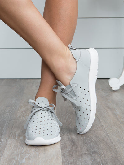 The Lilly Sneaker - Lt. Grey