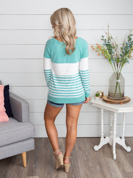 For Every Memory Stripe Top - Mint
