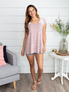 Happiness Is Found Lace Top - Mauve