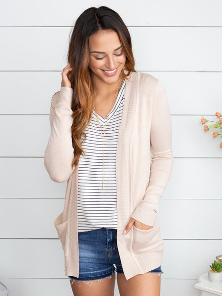 Picking Favorites Cardigan - Champagne