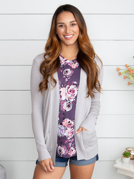 Picking Favorites Cardigan - Silver