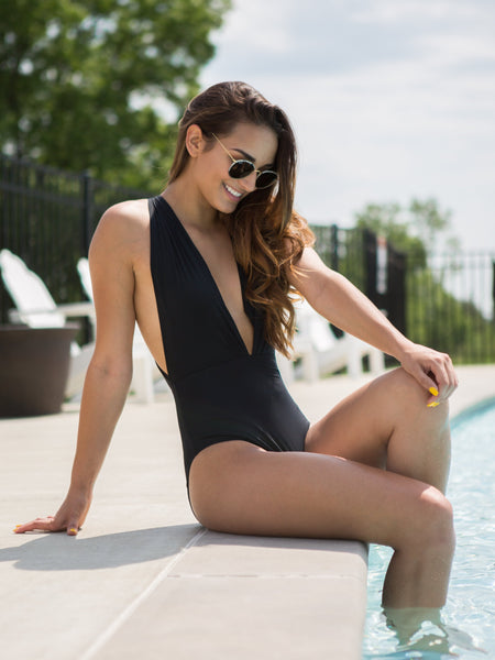 Bliss In Palm Springs One Piece - Black