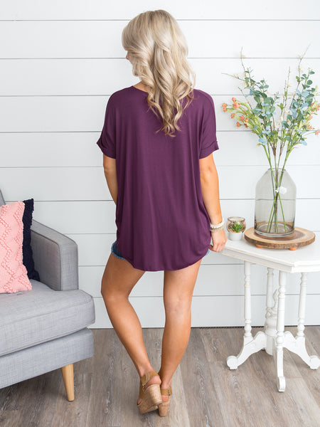 Fairytale Bliss Crossover Top - Plum