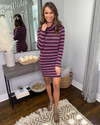 So Fabulous Stripe Dress - Purple Multi