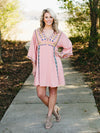 Beachside In Belize Dress  - Blush