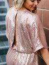 Ariana Sequin Romper - Blush