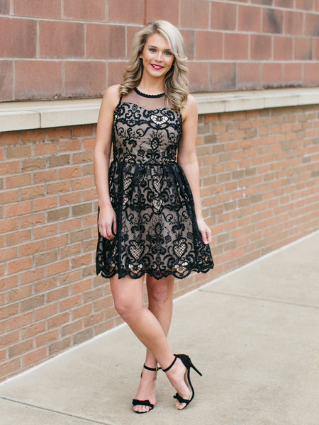 Kate Fit & Flare Dress - Black