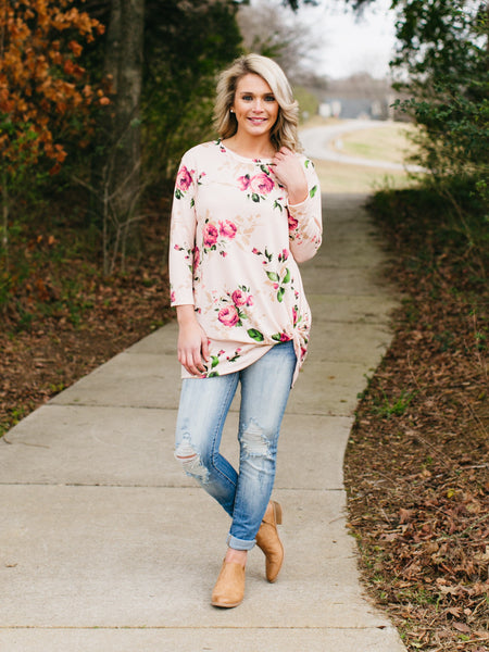 Forget Me Knot Top - Blush