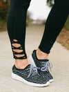 Low Key Knit Sneakers - Black