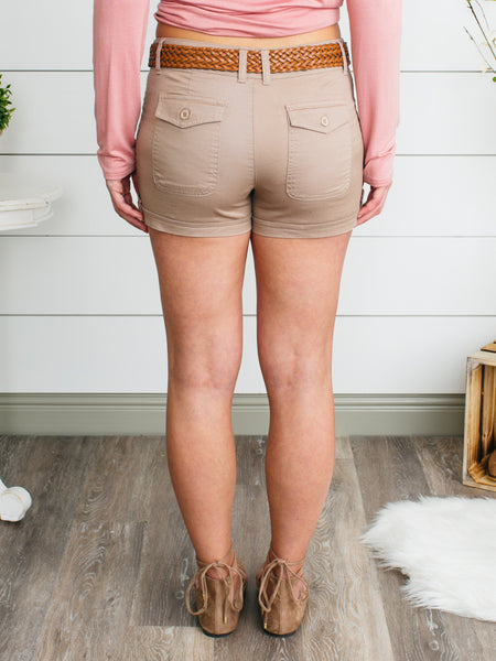 Cross Roads Shorts - Camel