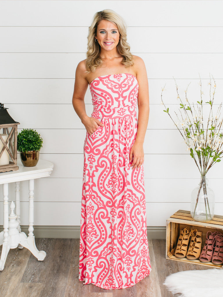 I Belong With You Maxi Dress - Coral