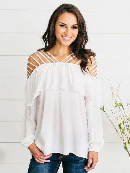 Sunset Dreams Top - Ivory