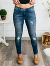 Gianna Frayed Ankle Length Skinny Jeans