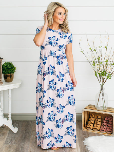 Breathtaking Maxi Dress - Pale Pink