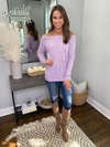 Fifth Avenue Off Shoulder Sweater - Lilac