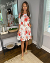 What A Lovely Life Floral Dress - Ivory