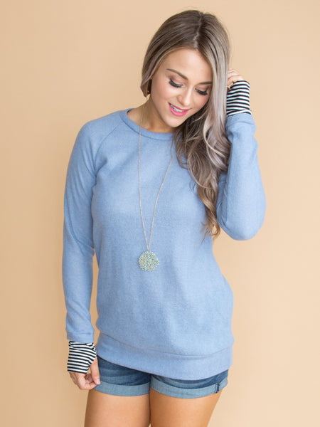 Just So You Know Sweater - Periwinkle Blue