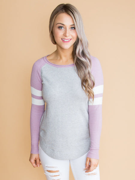 Who You Think Of Color-Block Top - Lavender