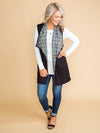 Second Chances Plaid Vest - Black
