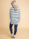 What's It Going To Take Stripe Knot Top - Grey