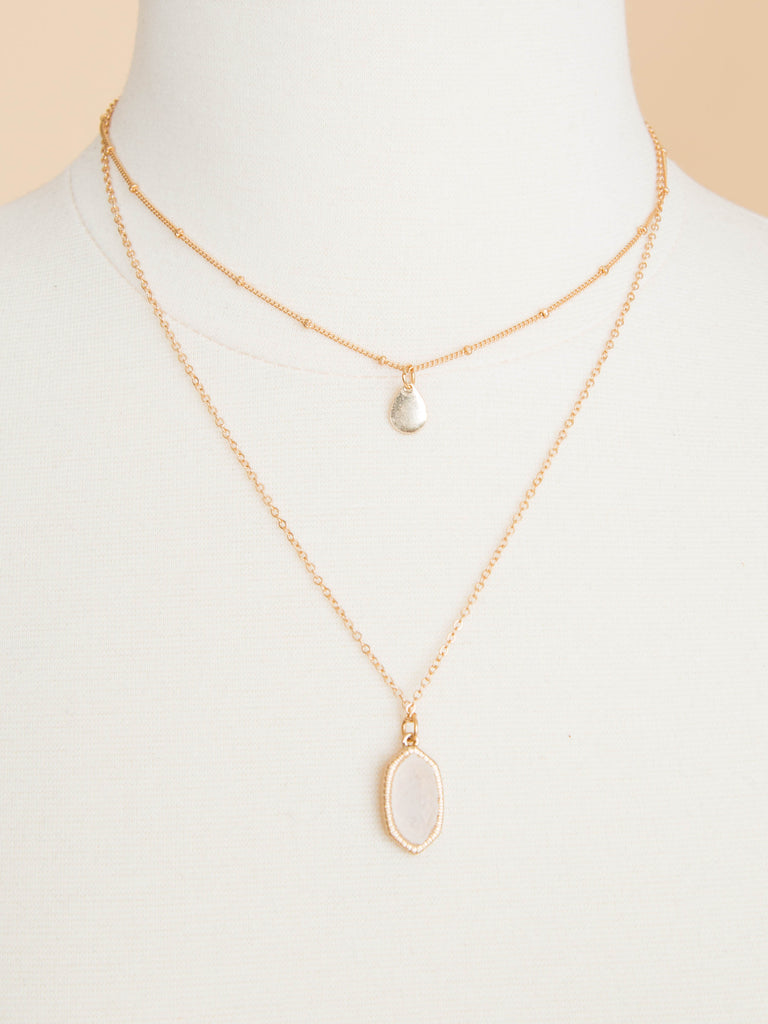 Gracie 2 Tiered Necklace - Gold