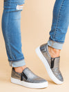 Not Rated Emersyn Metallic Slip Ons - Silver