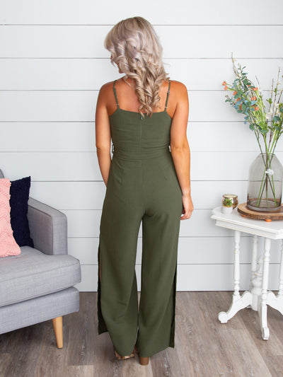 The More I See You Jumpsuit - Olive