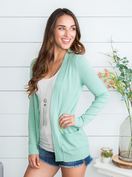 Picking Favorites Cardigan - Meadow Green