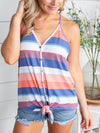 Something About It Stripe Knot Top - Blue