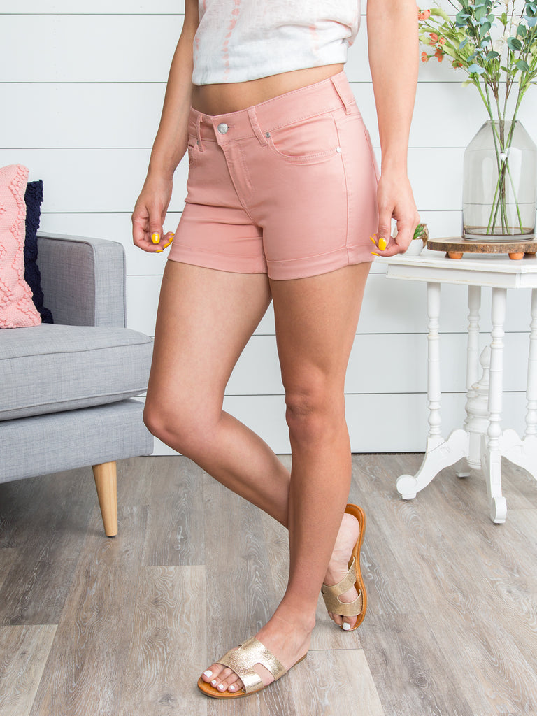 Reese Cuffed Shorts - Dusty Rose