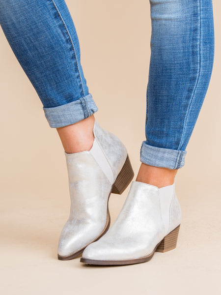 Chinese Laundry Pricilla Metallic Bootie - Silver