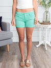 Reese Cuffed Shorts - Mint