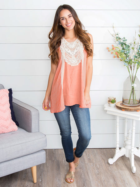 A Little Love Lace Top - Apricot
