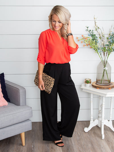 There She Goes Palazzo Pant - Black