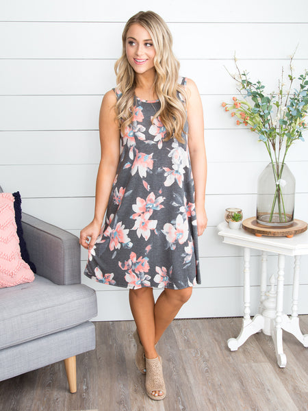 A Love You Can't Lose Dress - Grey