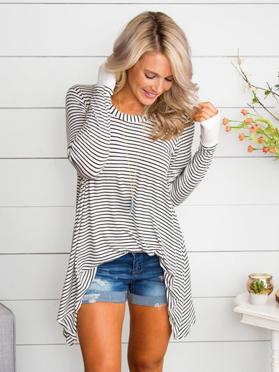 Don't Mention It Stripe Tunic - Off White