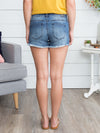 Ashlee Frayed Denim Short - Dark Wash