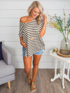 My Most Favorite Stripe Knot Top - Olive