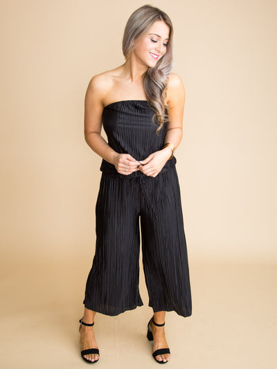 Make A Statement Jumpsuit - Black