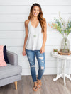 The Right Choice Stripe Tank - Heather Grey