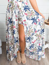 Time To Travel Floral Romper Maxi - Off White
