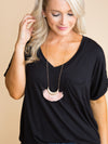 Abby Tassel Necklace - Blush