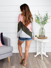 Just For Fun Stripe Color-Block Top - Blush