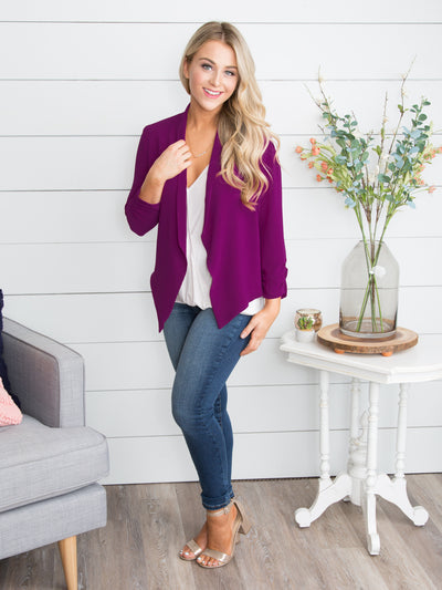 The Perfect Moment Blazer - Deep Orchid