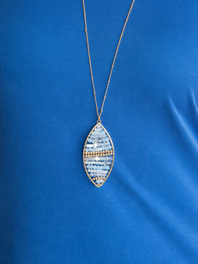Madilyn Pendant Necklace - Lt. Blue