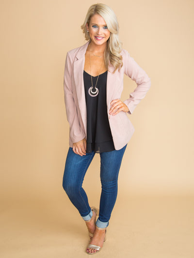 Something About That Girl Blazer - Blush