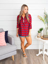 You Belong With Me Plaid Button Down - Red