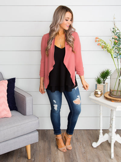 The Perfect Moment Blazer - Dusty Pink