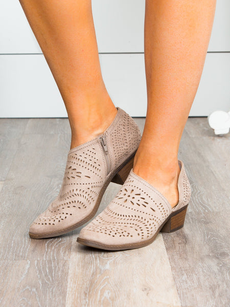 Not Rated Kathrine Cutout Bootie - Taupe